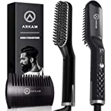 Arkam Premium Beard Straightener for Men - Cutting Edge Ionic Beard Straightening Comb, Heated Hair Straightener for Men…