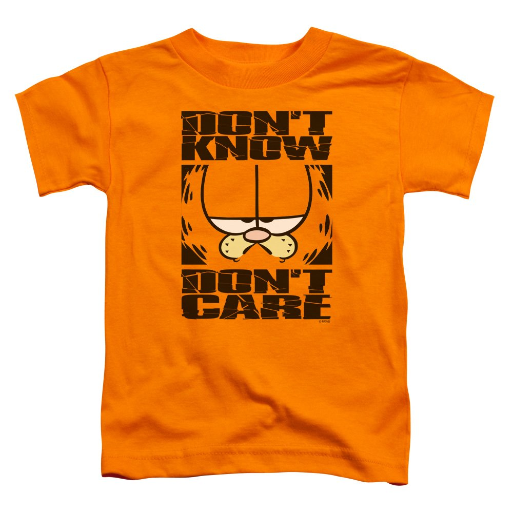 Garfield Don't Know Don't Care Newspaper Comic Little Boys Toddler T-Shirt Tee Trevco