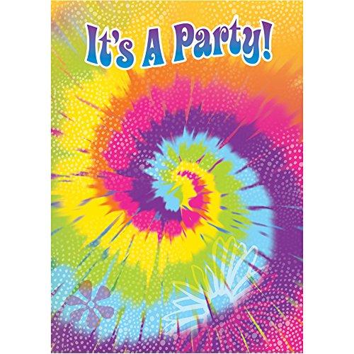 Tie Dye Swirl Invitations, 8ct (Tie Dye Invitations compare prices)