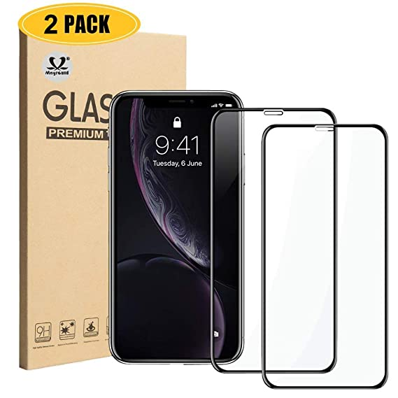 sale retailer 1bac4 fd15a Amazon.com: Mayround Compatible for iPhone XR Screen Protector,[2 ...
