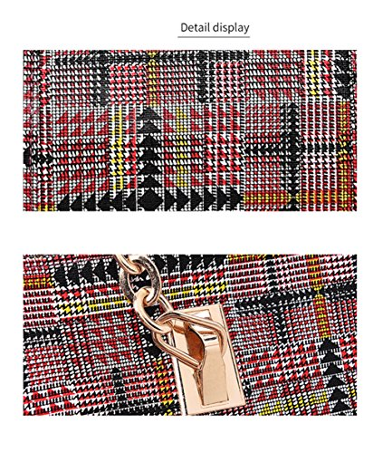 De en De Paquet Une Portefeuille Nouveau Red Set Pièces Treillis Paquet Cinq Mère Portable Brass Épaule Cuir Femmes Costume LXYIUN Diagonal Sac gawqpaU