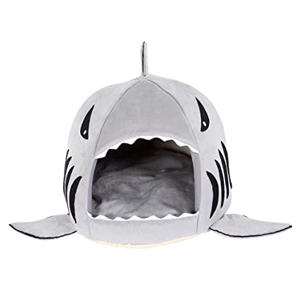 NiceButy 2 in 1 cojín Caliente Cama sofá para Mascota Cachorro Perro Gato # tiburón #