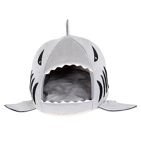 Wilk - Caseta para Mascotas, Gatos, Perros, Tiburones, Color Gris (42
