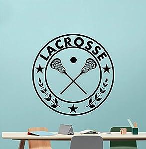 Lacrosse Wall Vinyl Decal Gym Sport Lacrosse Vinyl Sticker Nursery Wall Decor Cool Wall Art Kids Teen Girl Boy Room Wall Design Modern Bedroom Wall Decor Mural 431QQ