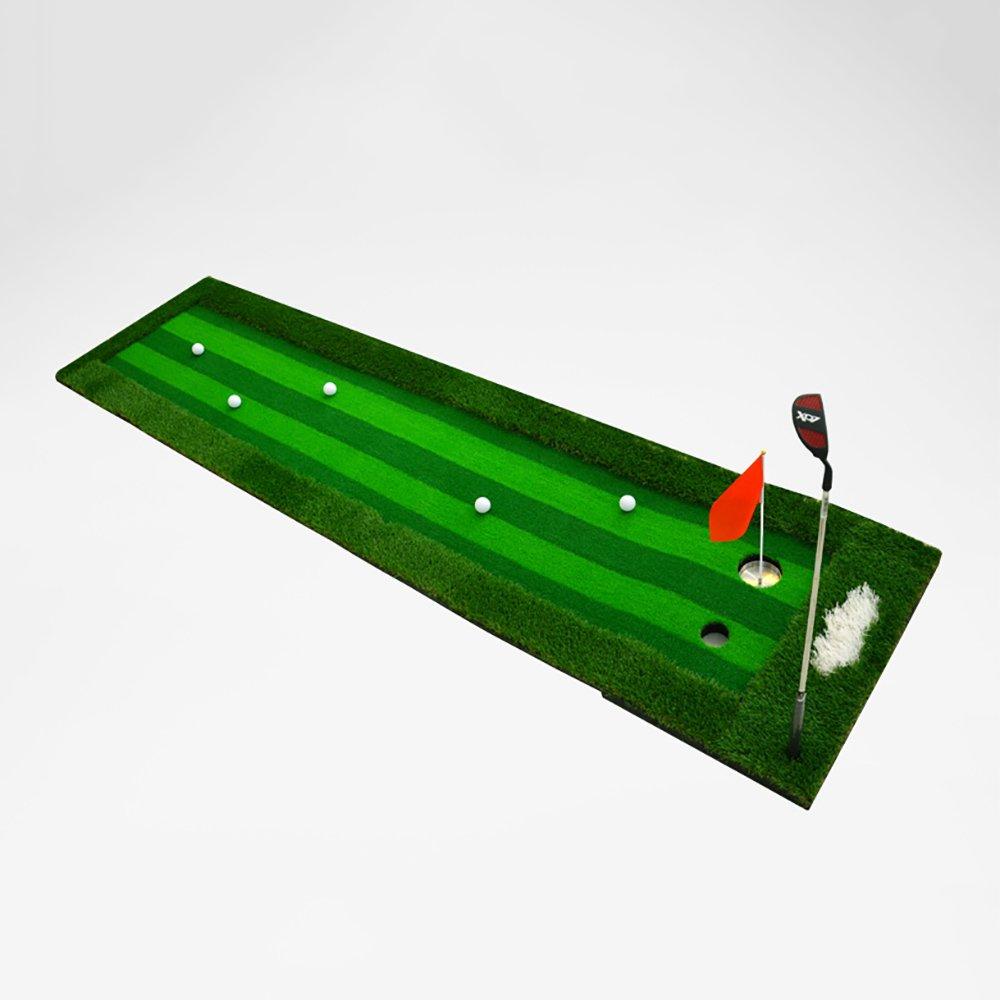 室内/屋外ゴルフパットマットパットプラクティスマターオフィスフェアウェイエクササイズブランケット300 * 75cm   B07FNDPKCT