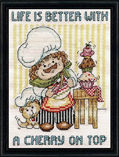 Cross Stitch Cupcake (Design Works Crafts Cupcake Chef Counted Cross Stitch Kit, 5 by 7
