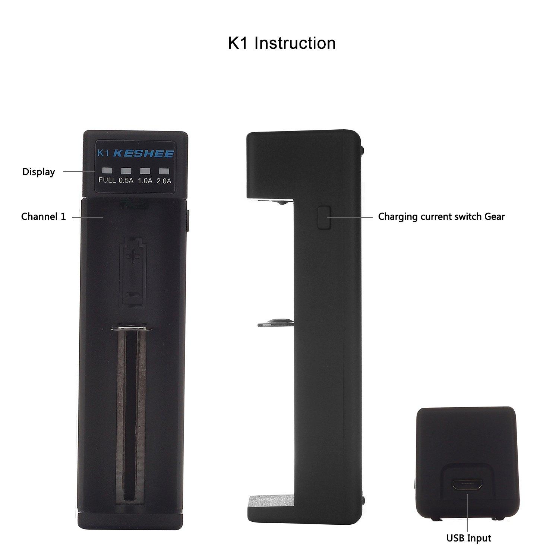 Amazoncom 18650 battery chargerUniversal Battery Charger KESHEE