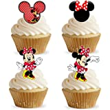 16 Stand Up Red Minnie Mouse Premium Edible Wafer Paper Cake Toppers