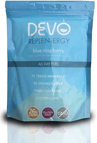 DEVO REPLEN-ERGY – ALL DAY FUEL, 20 servings Blue Raspberry Caffeine
