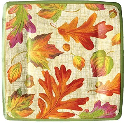 Thanksgiving Plates Thanksgiving Paper Plates Thanksgiving Dinner Leaves Lunch Plates 7.25\u0026quot; ...  sc 1 st  Amazon.com & Amazon.com: Thanksgiving Plates Thanksgiving Paper Plates ...