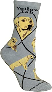 product image for Wheel House Designs Yellow Lab Women's Argyle Socks (Shoe size 6-8.5)