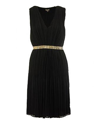 8562cc3336eb Hoss Intropia Damen Plissee Cocktail Kleid in Schwarz, Größe 40 (Hersteller  Größe 42) Farbe Schwarz  Amazon.de  Bekleidung