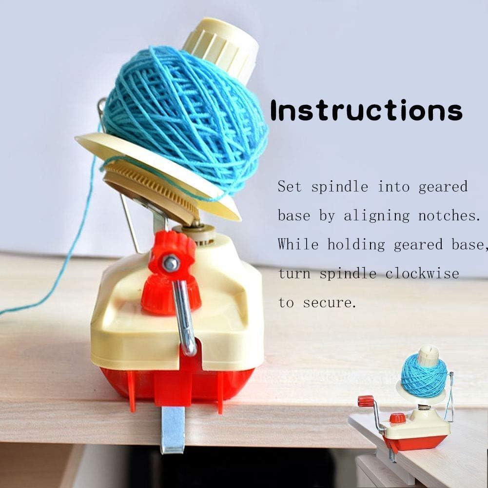 Mini bobinadora de hilo de cuerda manual de peso ligero de poco peso Enrollador de hilo de fibra de lana de bajo ruido Enrollador de bolas de hilo port/átil