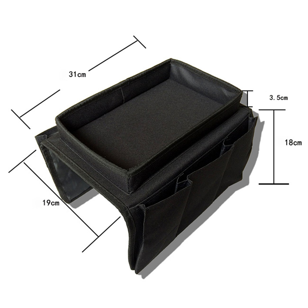 THEE Hanging Storage Armrest Chair Desk Sofa Slipcovers TV Remote Controller Holder Organizer Bag Cabinet Pouch