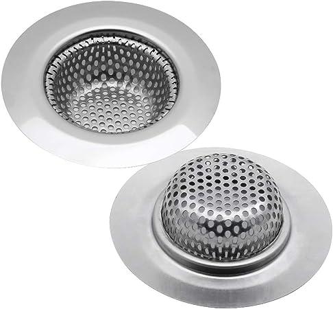 Filtro di scarico Lavello da cucina Filtro per capelli Bagno Filtro per lavello per lavello da cucina e scarico del bagno CONFEZIONE DI 4