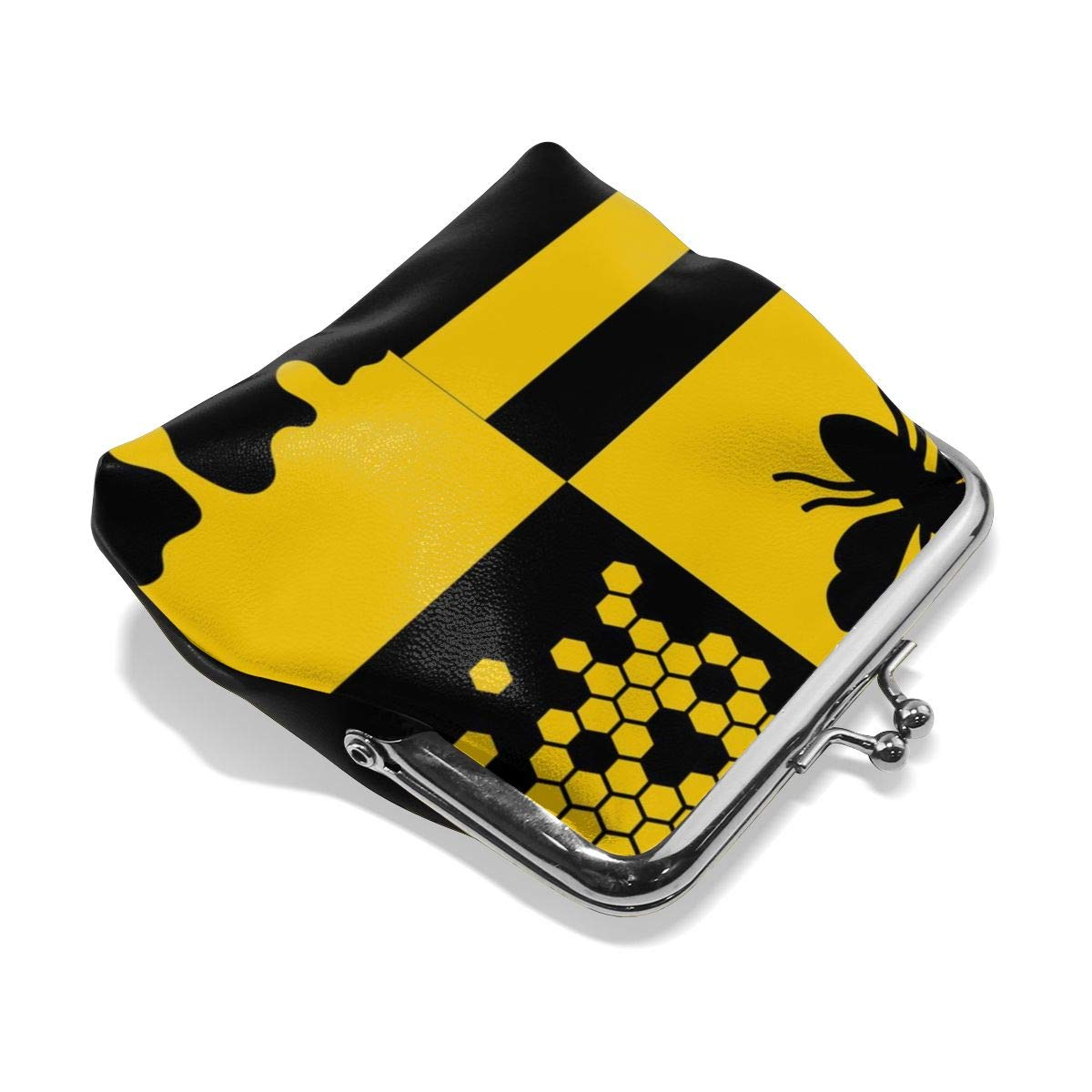 Bee Honeycells And Honey Patterns Cute Buckle Coin Purses Buckle Buckle Change Purse Wallets