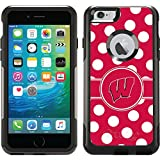 Coveroo Commuter Series Case for iPhone 6 Plus - Retail Packaging - University of Wisconsin Polka Dots