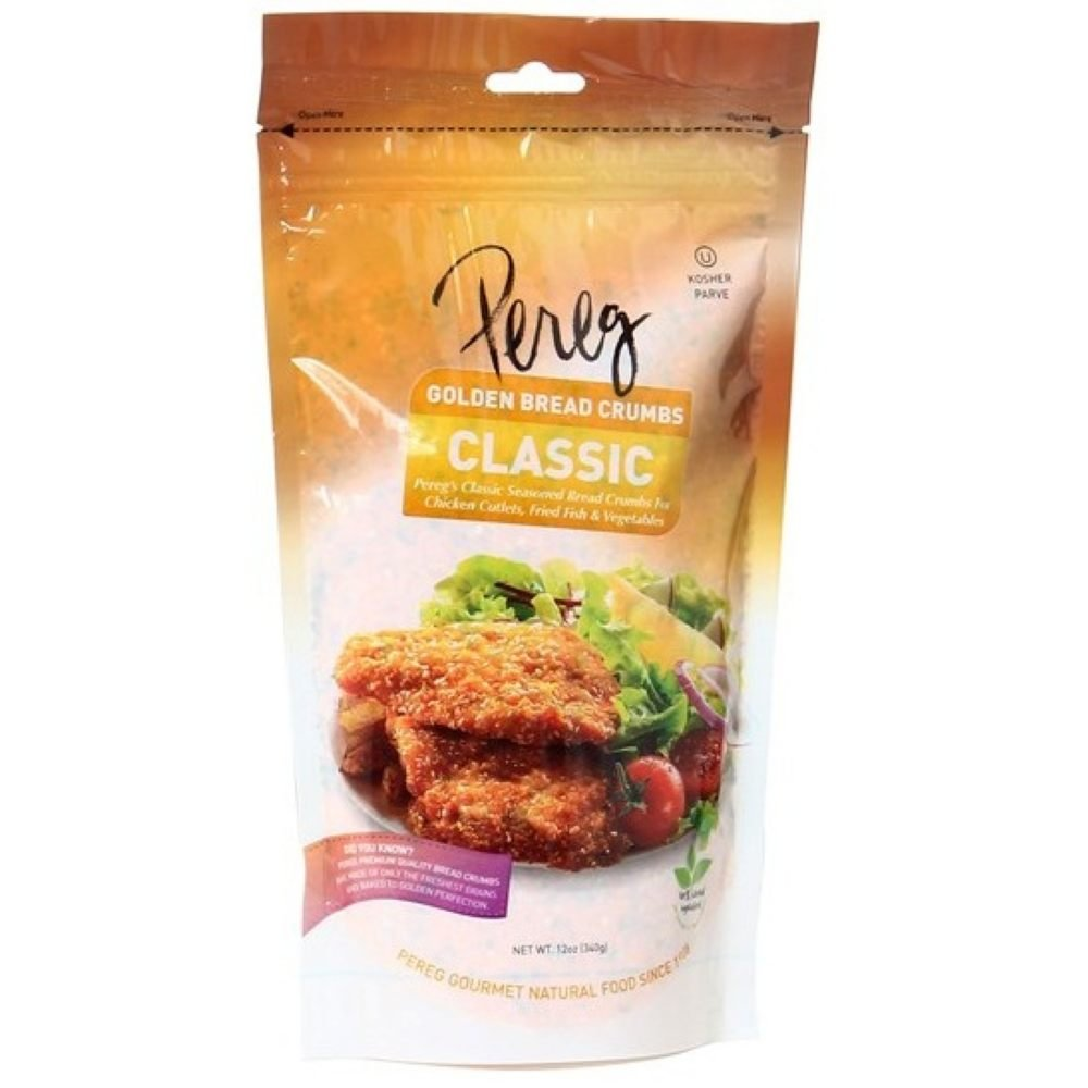Pereg Seasoned Classic Style Bread Crumbs, 12 Ounce -- 12 per case.