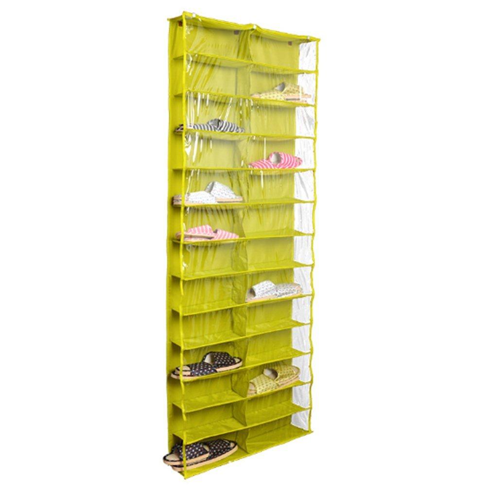ドア上靴オーガナイザー24 ポケット吊り下げ靴ラックハンガーホルダーストレージバッグ JJSN00GR001 B06VX2KXLV Green Shoe Shelves Green Shoe Shelves