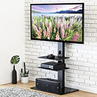FITUEYES Swivel TV Stand with Mount for 32-65 Inch,TT307001MB-G