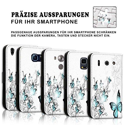 Wallet Book Style Flip Handy Tasche Case Schutz Hülle Schale Motiv Etui für Apple iPhone 4 / 4S - Design Flip MVD434