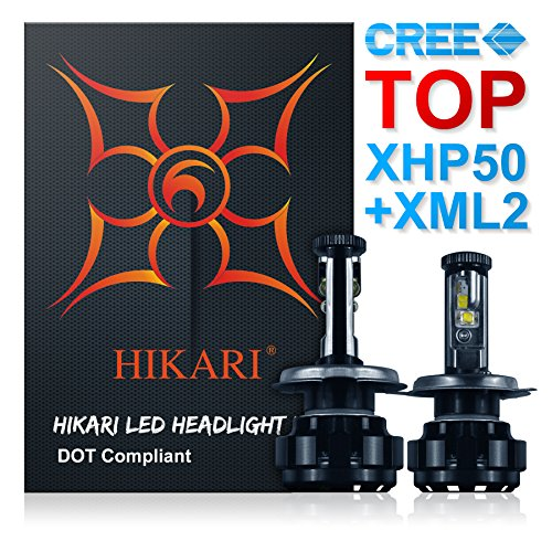 9003 led headlight bulb h4 - 2