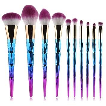 unicorn brush sets. coshine 10pcs unicorn diamond makeup brush set professional foundation powder cream blush kits (unicorn sets e