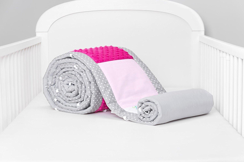 Amilian® Bettumrandung Nest Kopfschutz Nestchen 420x30cm, 360x30cm, 210x30cm, 180x30 cm Bettnestchen Baby Kantenschutz Bettausstattung MIX 15 (420cm (für das Babybett 140x70cm- rundherum))