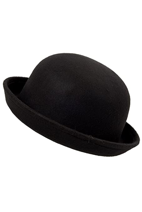 89f1dc955a1 Leegoal Black Women Vogue Vintage Cute Trendy Bowler Derby Hat Cloche  Fashion
