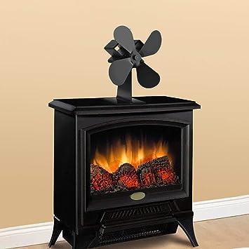 4-Blade estufa de calor del ventilador accionado registro de ...