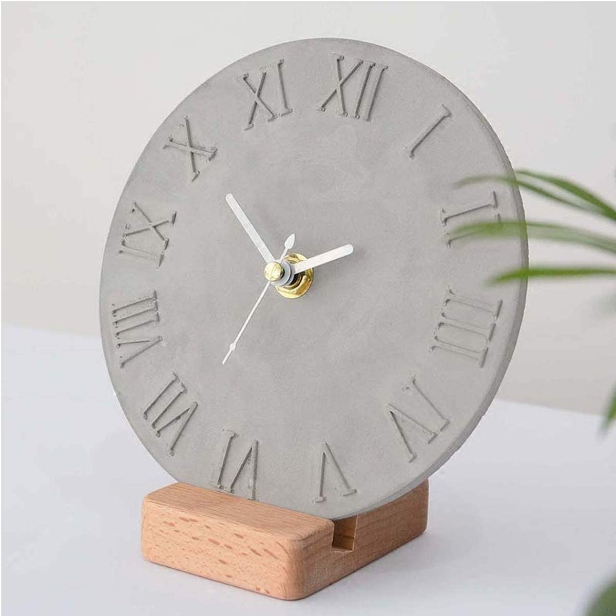ZUINIUBI Cement Concrete Silicone Mould DIY Craft Clock Making Clay Plaster Mould Handmade for Home Decoration