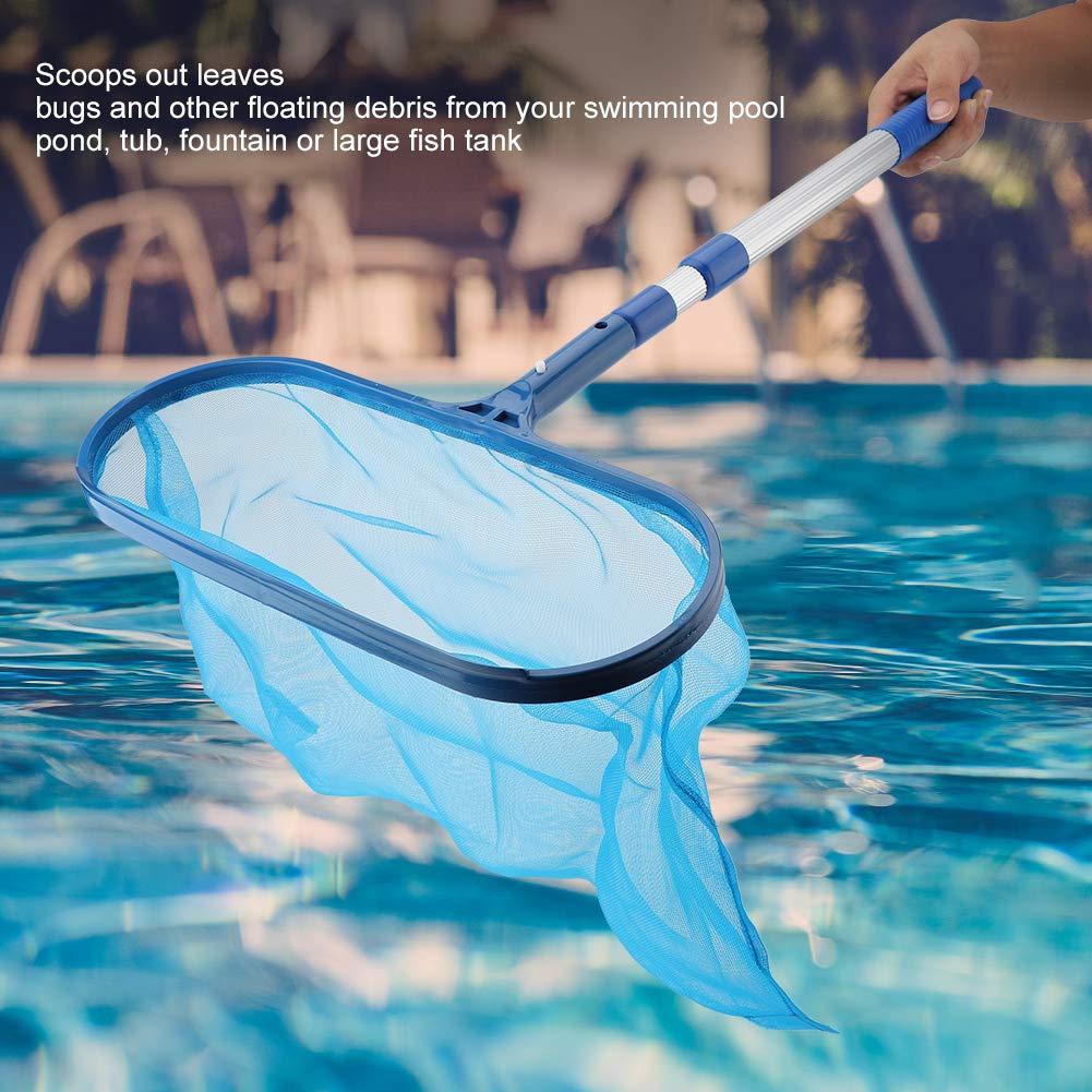 Spas Ponds Leaf Skimmer Swimming Pool Skimmer Leaf Deep Leaf Rake Net With Clip Handle Net Telescopic Pole For Jacuzzis