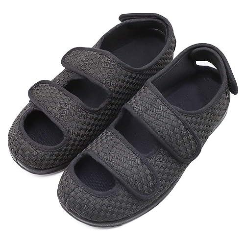 52788a737443f Men's Extra Wide Width Adjustable Slippers, Diabetic & Edema Slippers  Swollen Feet Walking Shoes Indoor/Outdoor Orthopedic Sandals