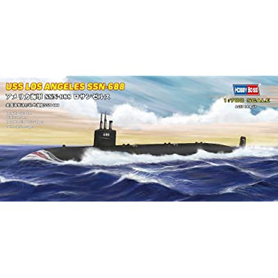 Hobby Boss USS Navy Los Angeles Submarine SSN-688 Boat Model Building Kit: Toys & Games