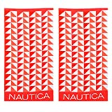Nautica Geo Triangles Coral 2-Piece Beach Towel Set