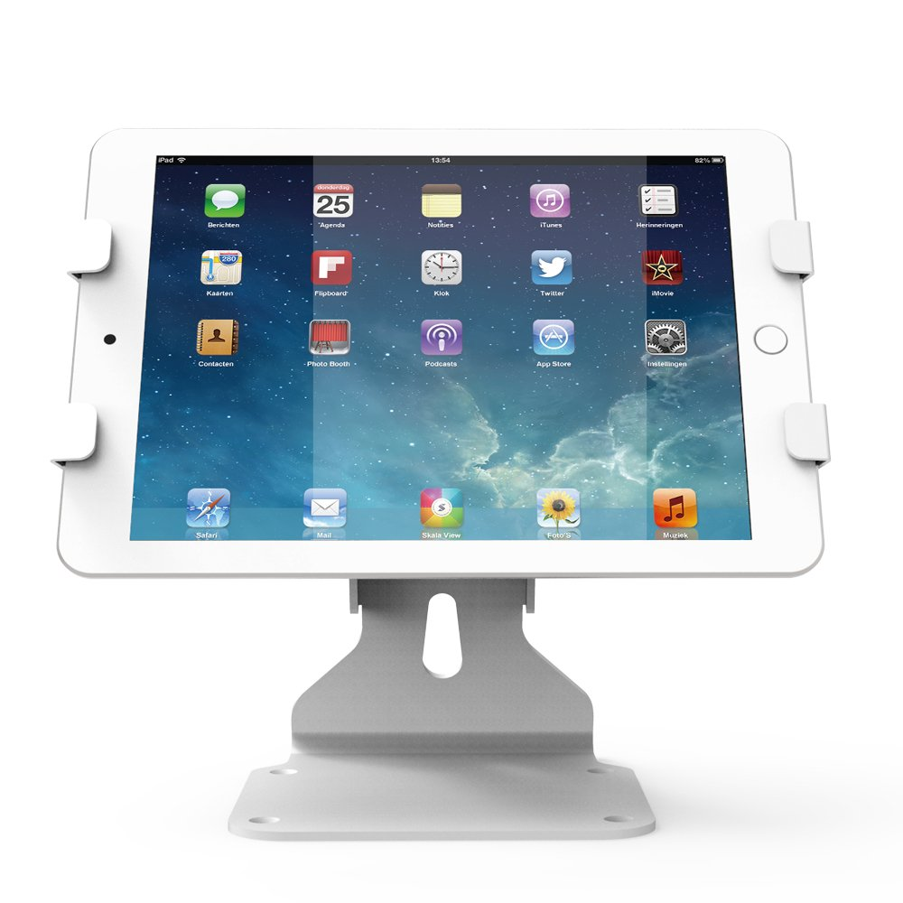Adjustable Tablet Stands & Swivel Kiosk iPad Stand For iPad, iPad Air, iPad Pro or other Tablets (6.69-10 inch), Key lock Security, White, BSC401W
