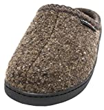 Haflinger Unisex AT Boiled Wool Hard Sole Slipper (42 M EU / 11 B(M) US, Khaki Speckle)