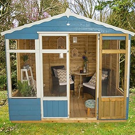 Hartwood 8 x 6 Sutton verano casa - tradicional casa de verano (Summer casas: Amazon.es: Jardín