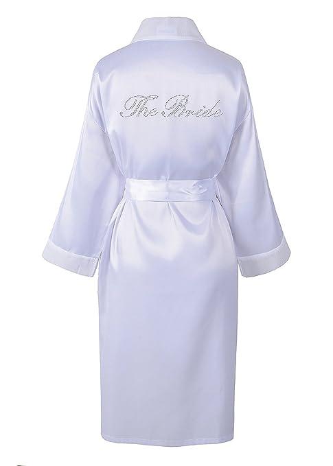 784692a98083 31 opinioni per Sacchettino in wedding day Rhinestone satin The Bride,  accappatoio con diamante