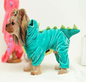 ZCNNO Pet Costume Dog Halloween Hoodie Sweater,Pet Skeleton Jumpsuit for Small Medium Dogs,Puppy and Cat Warm Apparel Holiday Halloween Dress Up Costumes,Suiting for Any Occassions(Green)