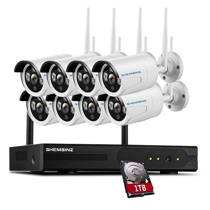 13 opinioni per SHEMSINZ Sistema di telecamere di sicurezza wireless 8CH 960P HD, 8x1.3Megapixel