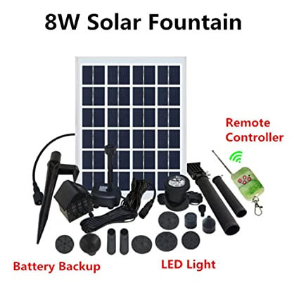 Amazon.com: Fuente Solar Kit de bomba de agua con batería de ...