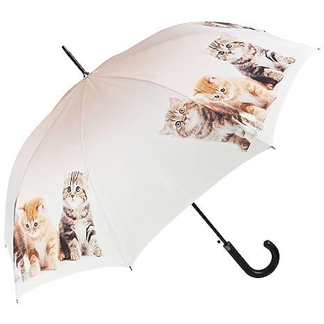 VON LILIENFELD Paraguas Automática Mujer Motivo Trio de gatos