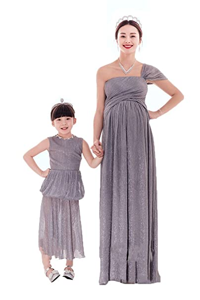 c34fd35a43123 XIXILE matching clothes pregnant mother and daughter princess dress for  photo shoot: Amazon.ca: Clothing & Accessories