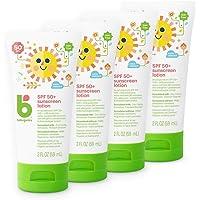 Babyganics Mineral-Based Baby Sunscreen Lotion, SPF 50, 2oz Tube (Pack of 4)