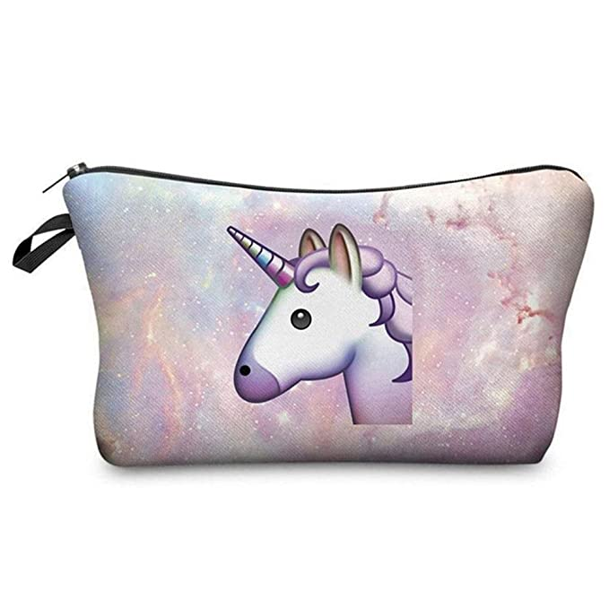 Cute Unicorn Women Girls Makeup Pouch Bag Travel Cosmetics Bag