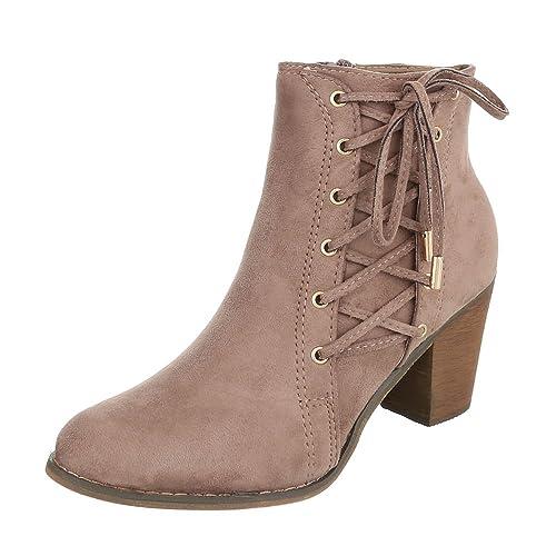 Cowboy Damen Schuhe Westernstiefeletten Ital Design JT1FcKl
