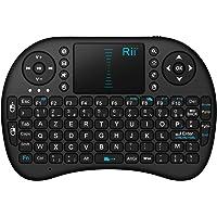 Rii Mini i8 Wireless (AZERTY) - Mini Clavier français, Ergonomique sans Fil avec Touchpad - Pour Smart TV, mini PC, HTPC, Console, Ordinateur