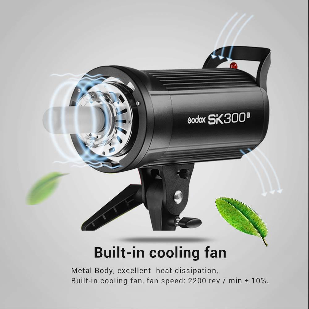 Godox SK300II Studio Strobe 300Ws GN65 5600K Bowens Mount Monolight, Built-in Godox 2.4G Wireless System, 150W Modeling Lamp, Outstanding Output Stability, Anti-Preflash, 1/16-1/1 40 Steps Output by Godox (Image #6)