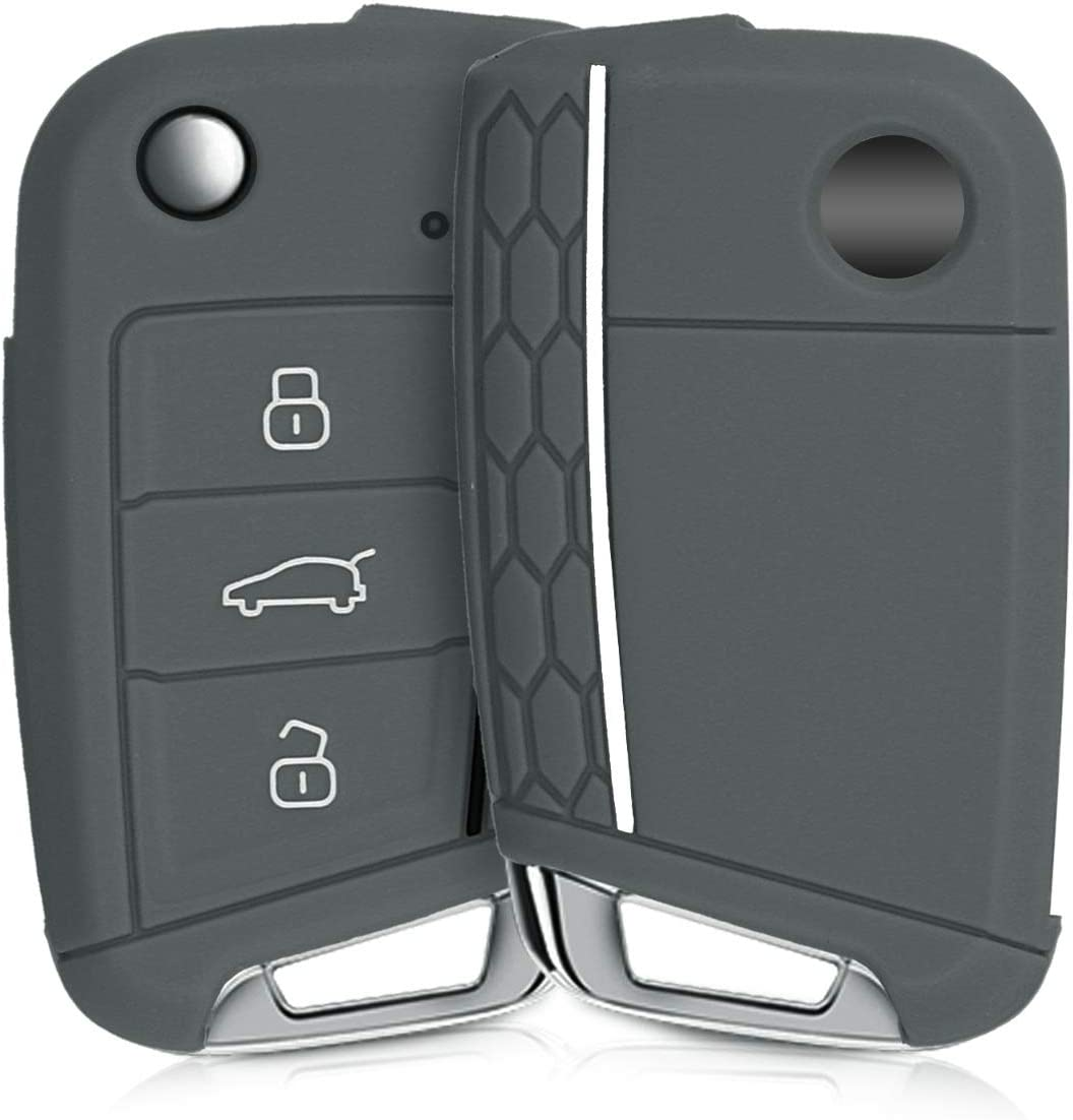 kwmobile Funda de Silicona Compatible con VW Golf 7 MK7 Llave de Coche de 3 Botones: Amazon.es: Electrónica
